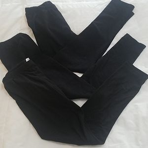 Girls black leggings bundle